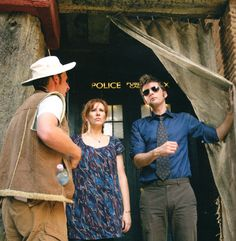 "The Fires of Pompeii - Behind the Scenes DT & crew are totally cracking me up as they act like consummate tourists outside St Peter's Basilica in Rome. Excerpt from Benjamin Cook's Pompeii article (DWM 395)  ""I almost trod on a chicken,"" continues Catherine. ""They're fantastic chickens, aren't they?"" ""One was flapping around my crotch for quite a long time,"" says David.  ""Did you see?  We're practically married.""…David can't decide how to deliver ..."