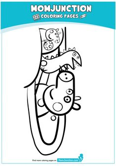 Peppa Pig at Beach Coloring Page Peppa Pig Coloring Pages, Beach Coloring Pages, Cartoon Coloring Pages, Peppa Pig Swimming Pool, Peppa Pig Drawing, Pig Party, Diy Home Crafts, Reading, Facebook
