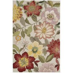 This floral hand-hooked rug adds beautiful color to a room while protecting floors from ordinary wear and tear. Ideal for any traditional room, this large area rug provides a vibrant color palette for easy coordination with your existing decor.