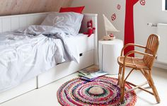 vtwonen collection 2014-2015 photographer: Jansje Klazinga stylist: Frans Uyterlinde #vtwonen #magazine #interior #collection #bedroom #kidsroom #white #red #carpet