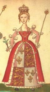 Joan Beaufort, Queen of Scotland, from the Foreman Armorial, 1562