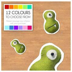 "Mini Felt Monster Plush Toy by BABUA - ""Moe"" - 12 Colors on Etsy, $4.90"