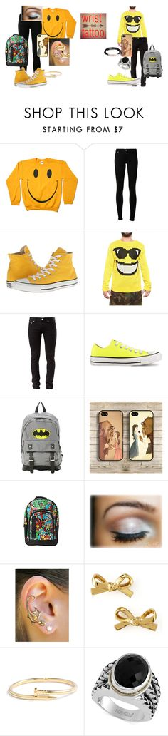 """""""Twins of Apollo: Billy Drew and Skylar Adam Marente"""" by immajuststayme ❤ liked on Polyvore featuring Citizens of Humanity, Converse, Jeremy Scott, BLK DNM, Disney, Marvel Comics, Kate Spade, Jeweliq, Effy Jewelry and ARTICLE22"""