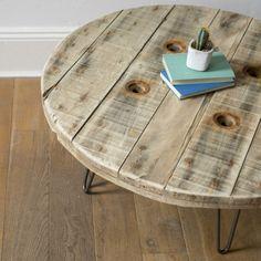 table basse touret meubles et rangements par la deco de gege deco pinterest table basse. Black Bedroom Furniture Sets. Home Design Ideas