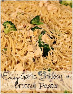 Easy Garlic Chicken and Broccoli Pasta