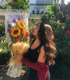 Image may contain: 1 person, standing, flower, plant and outdoor Happy Love Day, Icy Girl, Filipina Girls, Filipina Beauty, Photos Tumblr, Foto Pose, Light Hair, Asia Girl, Hair Looks