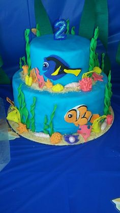 Finding Nemo Ice Cream Cake at Cold Stone Creamery Replace Fish