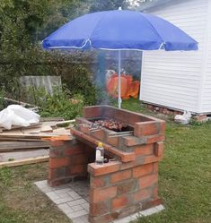 New Backyard Brick Patio Pizza Ovens Ideas Big Backyard, Backyard Landscaping, Patio Stairs, Garden Sink, Patio Grill, Patio Bar, Brick Bbq, Outdoor Kitchen Design, Outdoor Kitchens