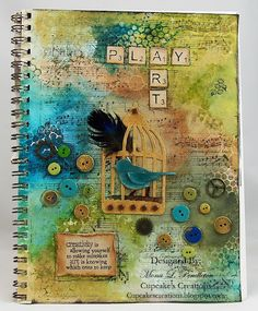 Gorgeous mixed media project - I want to learn more about this art journaling technique!
