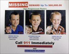 family clings to hope 2 years after michigan boys' disappearance; photos of what andrew, aexander, and tanner might look like now have been posted on the national center for missing and exploited children's web site. America's Most Wanted, Family Website, Child Abuse Prevention, Missing And Exploited Children, Missing Child, Missing Persons, Bring Them Home, Dark Brown Eyes, Cold Case