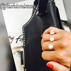Silver Tone Double Finger Ring New without tags double sided ring. Silver tone. 3 Pretty crystal like pieces see pic for size. HP by @Nissaboo14 Fashionista21 Jewelry Rings