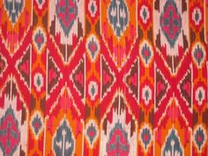 Beautiful hand dyed ikat design by artisans of India.