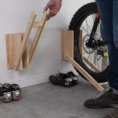 So easy and quick to make, this bicycle storage rack by build something is ideal. So easy and quick to make, this bicycle storage rack by build something is ideal for the whole family in a weekend. Bicycle Storage Rack, Diy Bike Rack, Bicycle Rack, Bike Stand Diy, Home Bike Rack, Bike Stands, Diy Storage Rack, Bicycle Sidecar, Bicycle Stand
