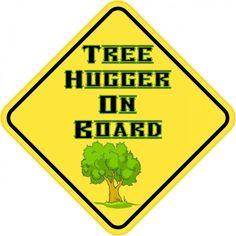 "5""x5"" Tree Hugger On Board Bumper Sticker Vinyl Decal Stickers Decals"