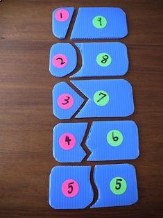 マレーシアでオーガニック子育て: 子供と手作り算数パズル