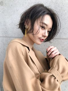 50 Chic Short Bob Hairstyles & Haircuts for Women in 2019 - Style My Hairs Thick Hair Pixie, Short Hair Cuts, Short Hair Styles, Korean Haircut, Korean Short Hair, Cute Haircuts, Hairstyles Haircuts, Mandy Moore Short Hair, Hair Arrange