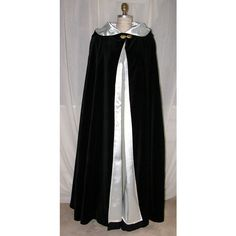Black Velvet Cloak, Christmas cloak, Opera Cape, Gothic Cape, medieval... (5.940 CZK) ❤ liked on Polyvore featuring jackets, cloaks, outerwear, medieval and accessories