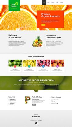 #FreshFruit website template #Joomla #Blog