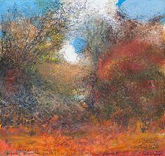 Kurt Jackson: Crab apples, haws, hips, sloes in the New Forest. Kurt Jackson, Seascape Paintings, Landscape Paintings, Art Gallery Uk, Modern Art, Contemporary Art, St Just, Panda Art, Jackson's Art