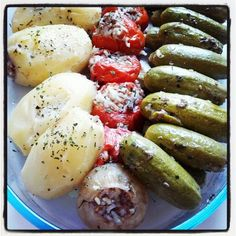 Organic vegetables. Stuffed with rice & minced meat  Photo by souci74