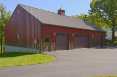 1000 images about work shop pole barn on pinterest for Building a detached garage on a slope