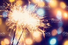 Party Feeling with Sparklers royalty-free stock photo