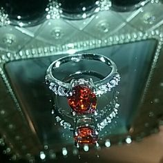 Selling this Valetines day !Red Garnet 925 Sterling Silver Ring in my Poshmark closet! My username is: dawnleger. #shopmycloset #poshmark #fashion #shopping #style #forsale #Fire and Ice  #Jewelry
