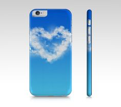 iPhone 6 polycarbon slim fit hard case with Cloud Heart design on it ___________________________ #iphone #case #skin #sky #cloud #heart #blue #ladies #women #texture #nature #fashion #print #pattern #polycarbon