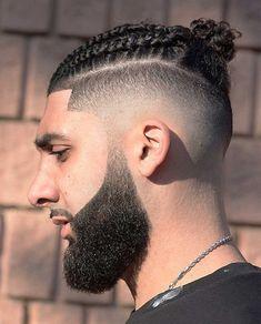 15 Best Man Bun Undercut Hairstyles - Men's Hairstyle Tips #undercut #undercuthairstyle #undercutfade #mensundercut #manbun #manbunundercut #mandbunfade #manbunbraids #lowfade #highfade #skinfade Faux Hawk Hairstyles, Mens Braids Hairstyles, Black Men Hairstyles, Men's Hairstyle, Shaved Side Hairstyles Men, Braids With Fade, Braids For Boys, Two Braids, Man Bun Undercut