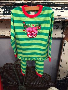 Infant+and+Toddler+Girls+Christmas+Pajamas+by+AuntieJsDesigns+on+Etsy