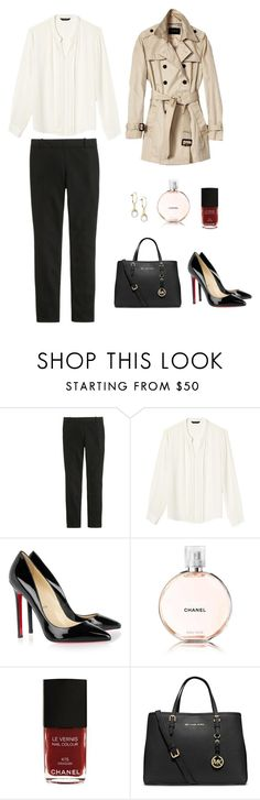 """""""469"""" by greenskys ❤ liked on Polyvore featuring J.Crew, Banana Republic, Christian Louboutin, Paul Morelli, Chanel and MICHAEL Michael Kors"""