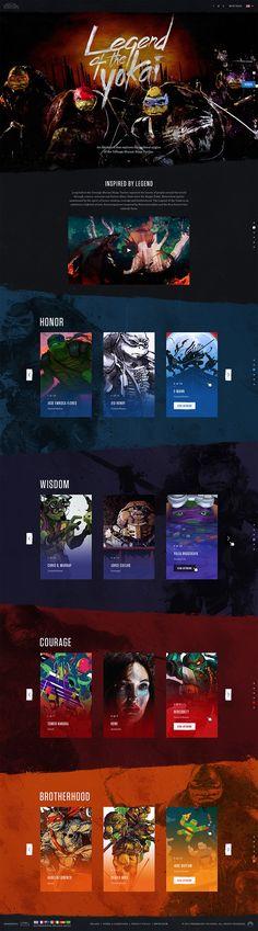 "Teenage Mutant Ninja Turtles: Legend of the Yokai in Behance ""Zero, otro estúpido juego para Minimal Web Design, Web Ui Design, Web Design Company, Game Design, Graphic Design, Website Design Inspiration, Website Design Layout, Web Layout, Photoshop Web Design"