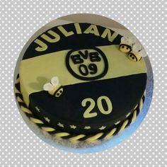 BVB Torte mit Bienen und Sternen Borussia Dortmund
