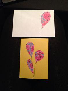 Ballon kort og kuvert