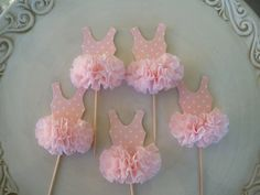 Found these on Etsy...aren't these adorable. Maybe one year my little one will have a ballerina themed birthday party. Or they would be great for a dance recital party.