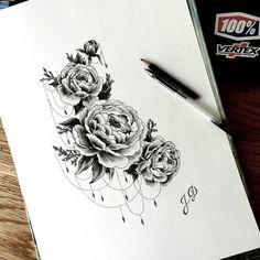 #jdtattoostudio #tattoo #peonytattoo #decoration #пионы #татупионы #эскиз…