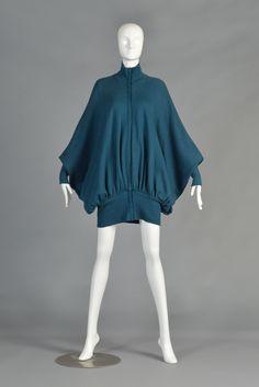 Norma Kamali Avant Garde Draped Batwing Knit Jacket   BUSTOWN MODERN