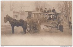 RP: Horse drawn bus , PARISH , New York , 1909 - Delcampe.com
