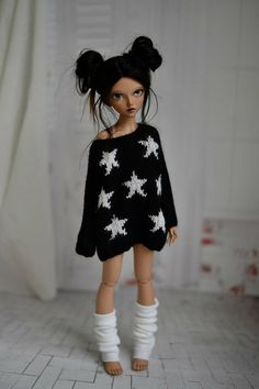 Loose navy stars sweater for minifee CandyDoll