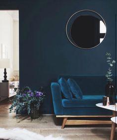 Dark Blue Living Room Maison Home Decor Dark Interiors Blue Rooms