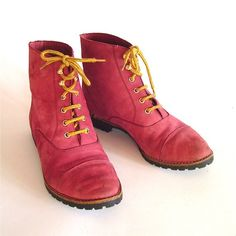 red suede hiking boots?  Seriously?? I would love these.