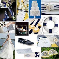 Cruise wedding - nautical theme.  We LOVE this!!!  #cruise #weddings