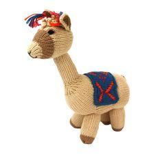 Cotton Llama Stuffed Animal - Peru