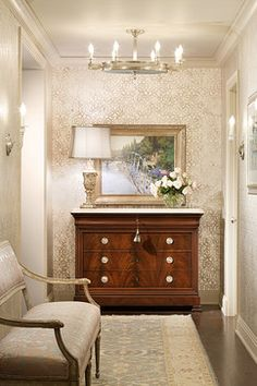 Traditional Home Wallpaper Design Ideas, Pictures, Remodel, and Decor - page 3