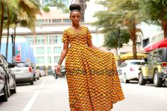 African Print Dress   by Zabba Designs