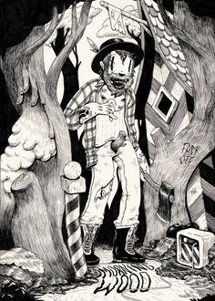 by McBess (aka Matthieu Bessudo) Vintage Cartoon, Cartoon Art, Cartoon Drawings, Ink Illustrations, Illustration Art, Mc Bess, Betty Boop, Pose Portrait, Character Art