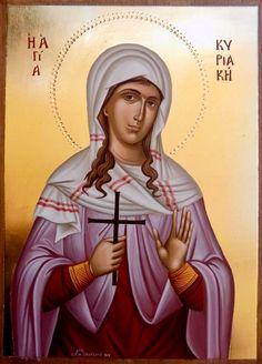 Kyriaki by Irini Rena Simigdala Orthodox Christianity, Son Of God, Orthodox Icons, Jesus Christ, Saints, Religion, Angels, Princess Zelda, Female