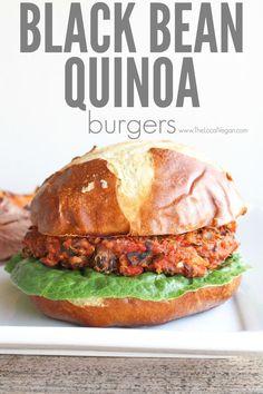 Black Bean Quinoa Burgers - The Local Vegan // www.thelocalvegan.com
