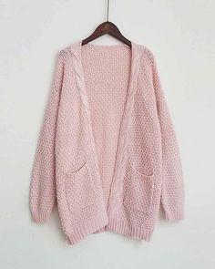1b46b18080b9cc Pink Twist Hem Drop Shoulder Knit Cardigan. risechic.com. New 2017 Autumn  winter Long Cardigan Women ...