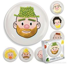 FOOD FACE KID'S DINNER PLATE